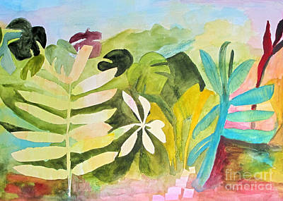 Philodendron Painting - Sometimes I Miss The Tropics by Sandy McIntire
