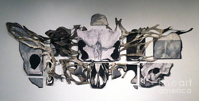 Installation Art Mixed Media - Sometimes I Puzzle About Life And Death by Adam O'Brien