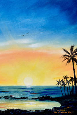 Painting - Sometimes I Wonder - Vertical Sunset by Gina De Gorna