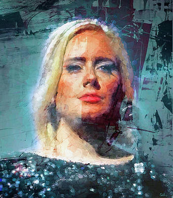Adele Wall Art - Mixed Media - Sometimes It Hurts Instead by Mal Bray