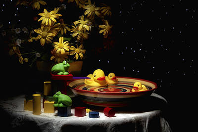 Rubber Duck Photograph - Sometimes Late At Night by Tom Mc Nemar