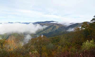 Photograph - Sometimes There Is Smoke In The Great Smoky Mountains National Park by rd Erickson