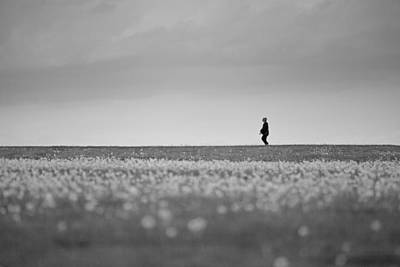 State Love Nancy Ingersoll Rights Managed Images - Sometimes We All Walk Alone BW Royalty-Free Image by Karol Livote