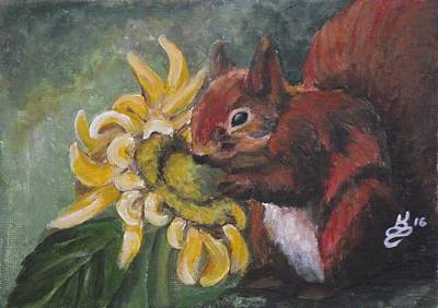 Painting - Sometimes We Have To Stop And Smell The...sunflower? by Kim Selig