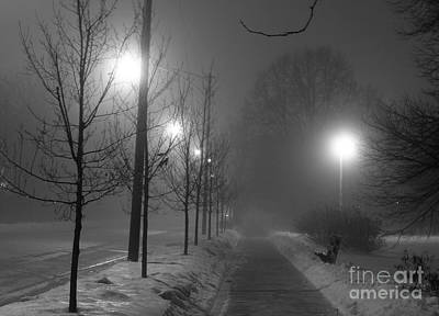 Winter Night Photograph - Sometimes Winter Stays A Long Time by David Bearden