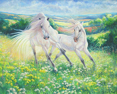 Somewhere In A Sussex Field... Art Print by Gill Bustamante