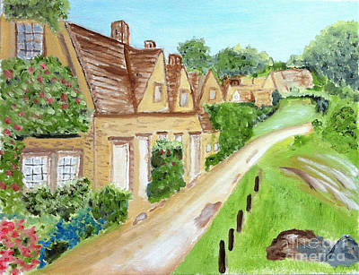 Somewhere In Cotswolds South West England Art Print