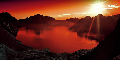 Blazing Sun Photograph - Somewhere In Heaven by Mountain Dreams