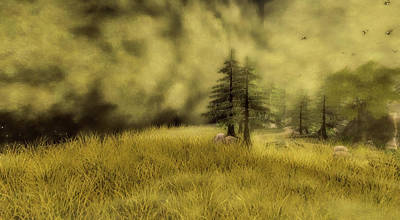 Rural Art Mixed Media - Somewhere In Heaven by Virtual World Design