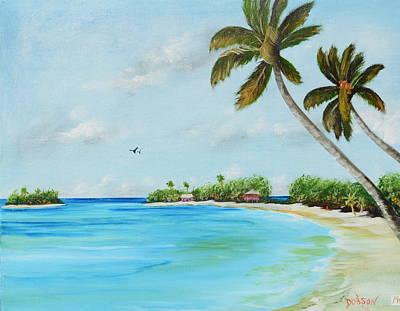 Somewhere In Paradise Art Print by Lloyd Dobson