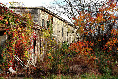 Photograph - Somewhere In Rhode Island - Abandoned Mill 001 by Lon Casler Bixby