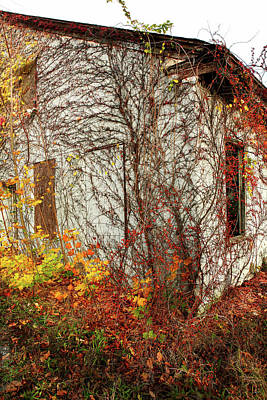 Photograph - Somewhere In Rhode Island - Abandoned Mill 002 by Lon Casler Bixby