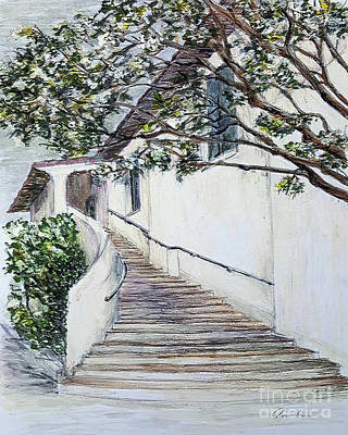 Drawing - Somewhere In Santa Barbara by Danuta Bennett