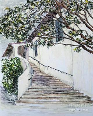 Drawing - Somewhere In Santa Barbara by Danuta Bennett