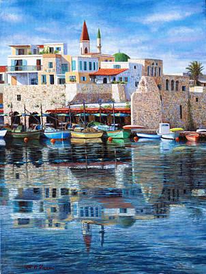 Somewhere In The Mediterranean Print by Miki Karni