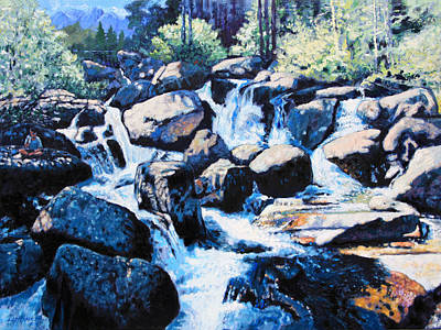 Painting - Somewhere In The Rocky Mountains by John Lautermilch