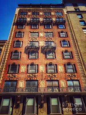 Photograph - Somewhere In Time - Old Buildings Of New York by Miriam Danar