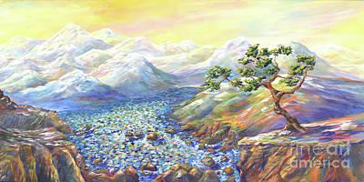 Mystical Landscape Painting - Somewhere by Malanda Warner