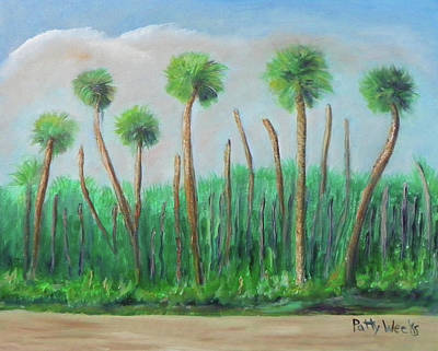 Painting - Somewhere On A1a by Patty Weeks