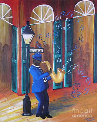 Painting - Somewhere On Bourbon Street by Valerie Carpenter