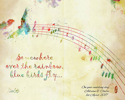 Somewhere Over The Rainbow Adrian And Claire Art Print by Nikki Marie Smith