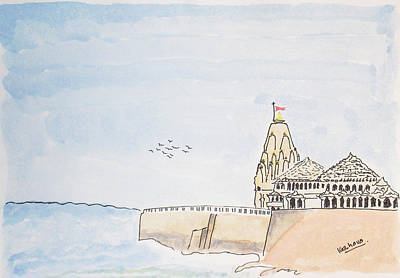 Painting - Somnath Jyotirling by Keshava Shukla