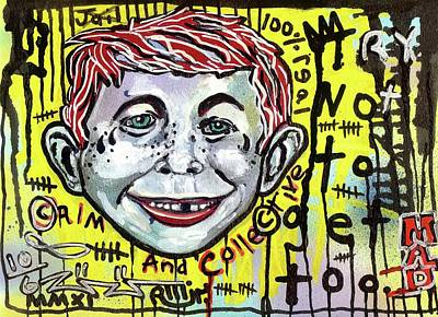 Outsider Art Mixed Media - Somtimes I Worry by Robert Wolverton Jr