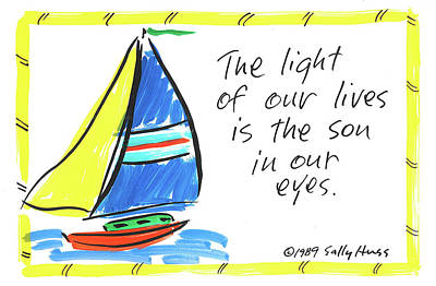 Wall Art - Painting - Son/light Of Our Lives by Sally Huss