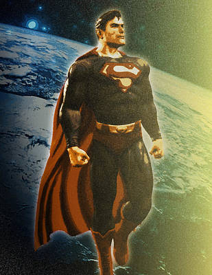 Painting - Son of Krypton by Michael Lee