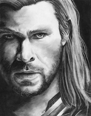 Thor Drawing Drawing - Son Of Odin by Amanda Shanks