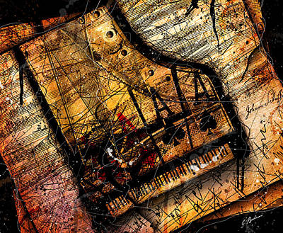 Brahms Digital Art - Sonata In Ace Minor by Gary Bodnar