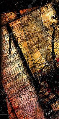 Mozart Digital Art - Sonata In Ace Minor Panel 2 by Gary Bodnar