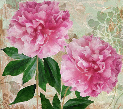 Pinks And Purple Petals Painting - Sonata Pink Peony I by Mindy Sommers