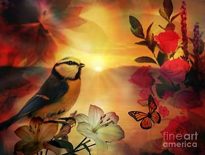 Digital Art - Song At Sunset by Maria Urso