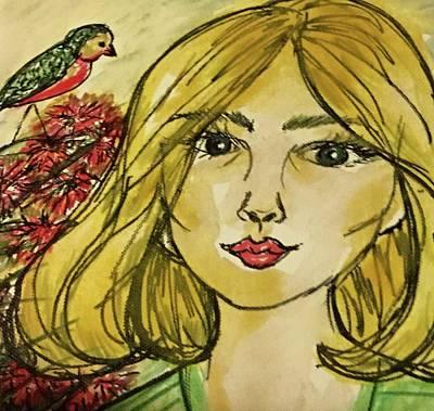 Susana Maria Rosende Painting - Song Bird by Susana Maria Rosende