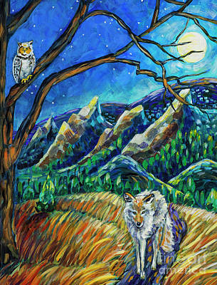 Coyote Art Painting - Song Dog by Harriet Peck Taylor