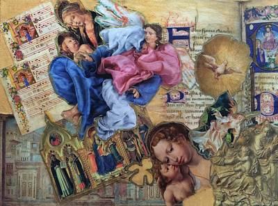 Manuscript Mixed Media - Song Of Angels IIi by Paula Emery
