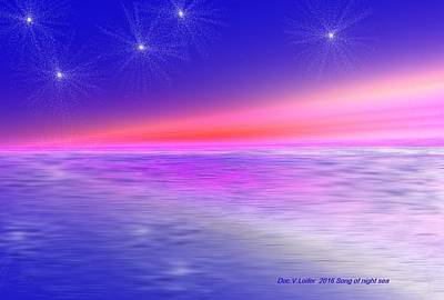 Digital Art - Song Of Night Sea by Dr Loifer Vladimir