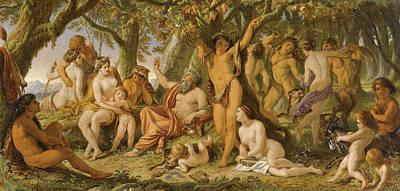 Painting - Song Of Silenus by Joseph Noel Paton