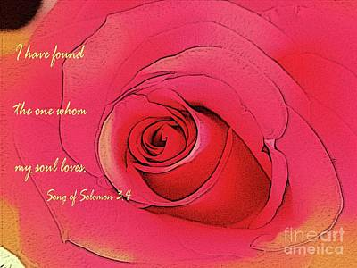 Photograph - Song Of Solomon 3.4 by Barbara Griffin