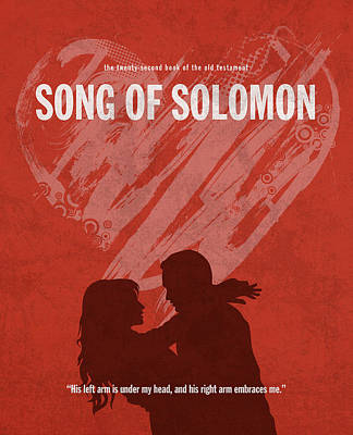 Song Of Solomon Books Of The Bible Series Old Testament Minimal Poster Art Number 22 Art Print by Design Turnpike