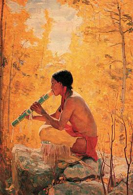 Aspen Western Painting - Song Of The Aspen by Bert Geer Phillips