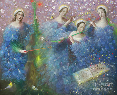 Sheet Music Painting - Song Of The Goddess Natura by Annael Anelia Pavlova