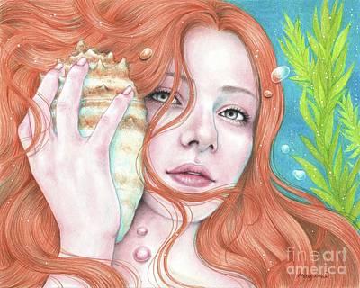 Drawing - Song Of The Ocean by Mayumi Ogihara