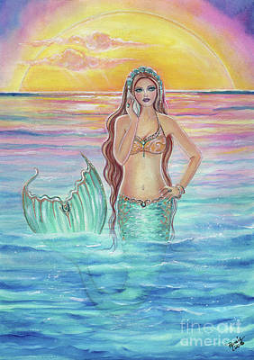Song  Of The Ocean Mermaid Original by Renee Lavoie