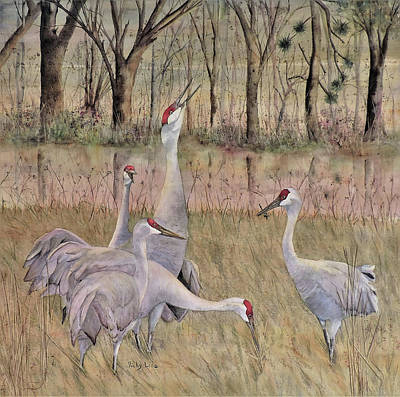 Song Of The Sandhill Print by Vicky Lilla