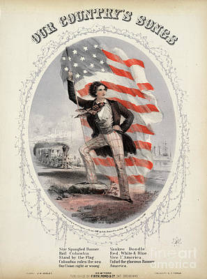 Photograph - Song Sheet Cover, 1861 by Granger