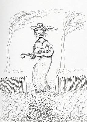 Drawing - Song With The Wind by Jim Taylor