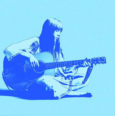 Joni Mitchell Digital Art - Songbird by Little Bunny Sunshine