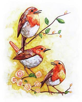 Painting - Songbird Chorus by Jennifer Allison